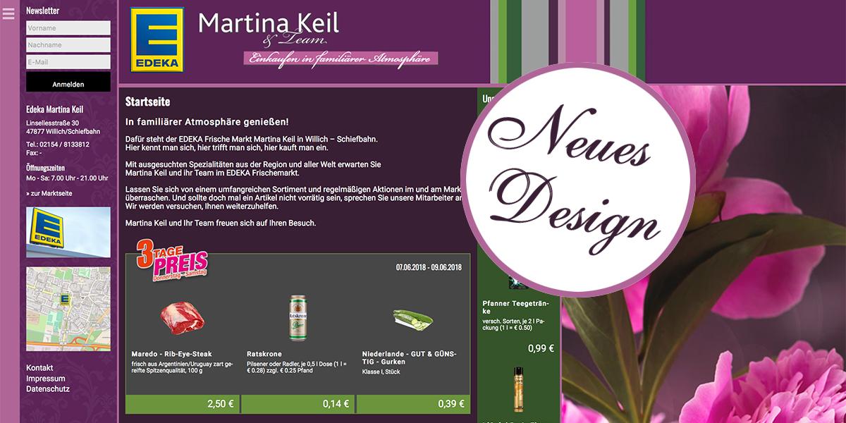Unser neues Webdesign